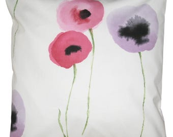 Sanderson Poppies Lilac & Pink Cushion Cover