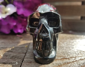 Obsidian Skull | Crystal Skull | Crystal Skulls Carved | Crystals Pendants | Protection Talisman | Protection Crystals | Wicca | Witchcraft