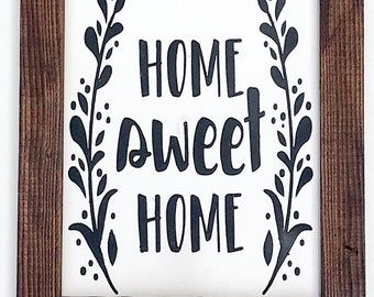 Home sweet home sign, home sign, home sweet home, wooden sign