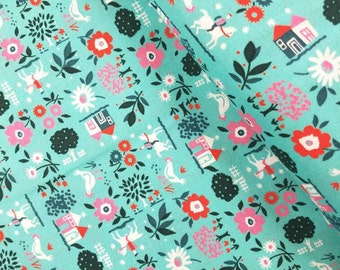 Everything But The Kitchen Sink XII 2016 - Farm Fresh(Teal) - Yuko Hasegawa - RJR Fabrics