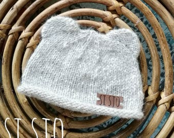 Cool Si Sjo Baby Hat, handknitted