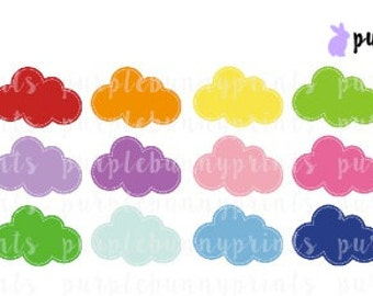 Rainbow Clouds // SMALL // Planner Stickers!