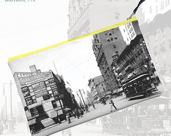 Main Street 1900 (Buffalo, NY)—Pouch, Wallet, Wristlet, Coin Purse, Zipper Bag, Clutch, Pencil Case, Makeup Bag
