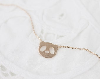 Tiny Panda Necklace Panda Face Charm Necklace Bridesmaid Gift Dainty and Delicate Everyday Necklace