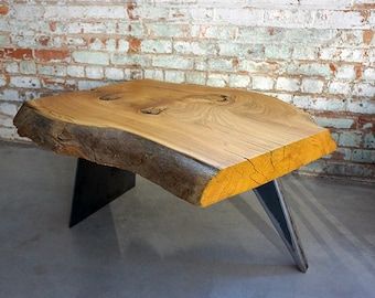 Live Edge Elm Coffee Table | Great Lakes Coffee Table