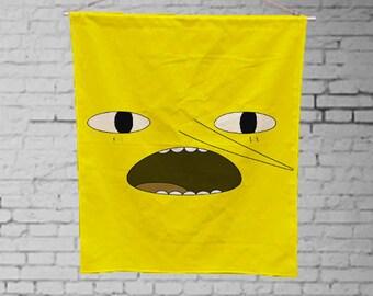 adventure time Earl of Lemongrab  - Custom Geek Fabric Wall Hanging Home Decor Canvas Tapestry  Wall Art Poster