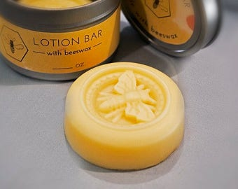 Beeswax and Honey Lotion Bars