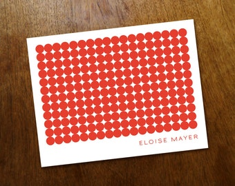 Red Note Card Template - Red Geo - Circles