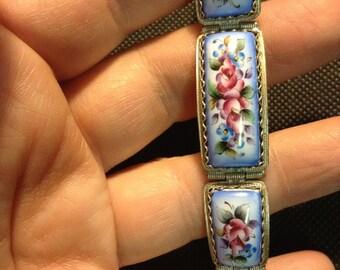 Bracelet Russian Finift enamel. Russia, USSR