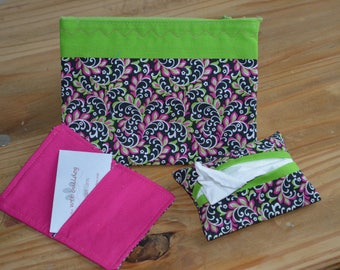 Zippy Bag with Card Holder and Tissue Holder
