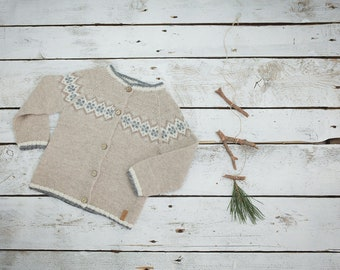 Nordic sweater, Alpaca sweater, knitted baby clothes, Fair isle sweater, Icelandic sweater, Norwegian sweater, knit sweater, wool sweater