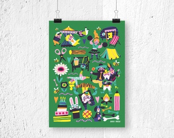 Poster - Fun Fair - Print for kids - Poster A3 - Poster A4