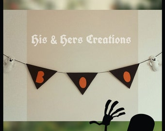 Handmade Felt Halloween Garland, Felt Garland, room decor, home decor