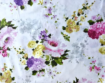 cabbage rose fabric, vintage rose fabric, vintage fabric, rose fabric, floral fabric, flower fabric, purple rose fabric, pink rose fabric
