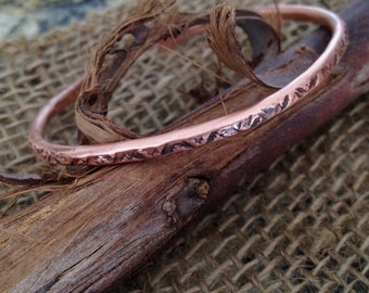 Organic Textured Copper Bangle