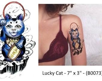 Lucky Cat Temporary Tattoo