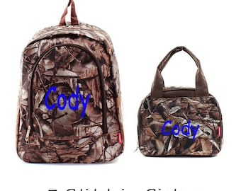 Monogram Real tree Backpack Sets-backpack and lunch bags set-lunch boxes-backpacks-diaper bag