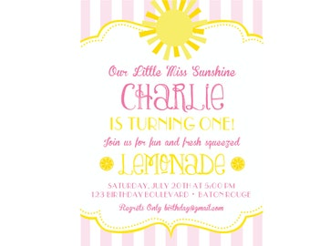 Miss Sunshine Birthday Invitation, Miss Sunshine Birthday, Sunshine Printables, Miss Sunshine Birthday Decorations, Lauren Haddox Designs