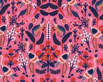 Cotton + Steel - Rifle Paper Co. - Les Fleurs - Tapestry - Rose