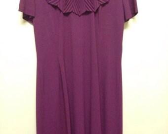 Vintage Burgundy Dress Size 12-14