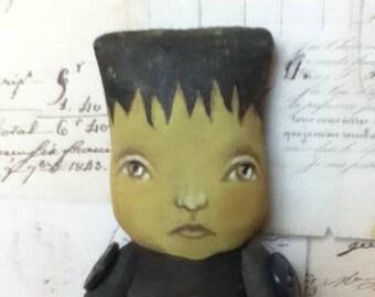 SALE Frankenstein Doll Ornament Halloween DecorationSweet Frankie folk art