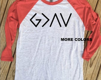 God is Greater Than the Highs and the Lows - Raglan Tee