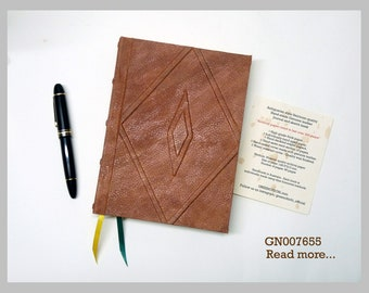 Antiquarian style handmade genuine leather journal / sketch book | GN007655