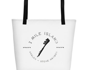 7 Mile Island, New Jersey Beach Bag