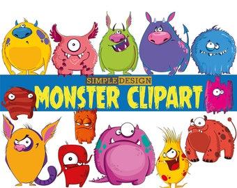 Monster Clipart, Monsters Clip Art, Birthday Clipart, Monster Party, Cute Monsters, Monsters, Monsters graphics, Monster clipart