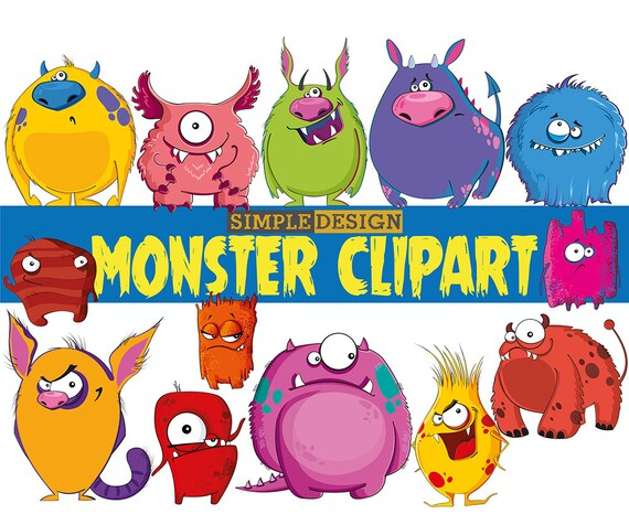 monster clipart monsters clip art birthday clipart monster party rh etsystudio com cute monster clipart png cute monster clipart black and white