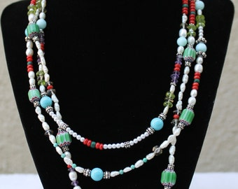 Three stranded necklace