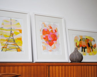 20% OFF OFFER: Any 3 Art Prints of Your Choice - Mid Century Modern Art Prints 8 x 10