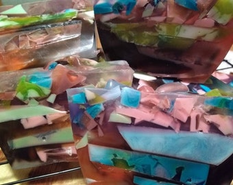 All natural psychedelic hemp and goats milk soap BIG bars