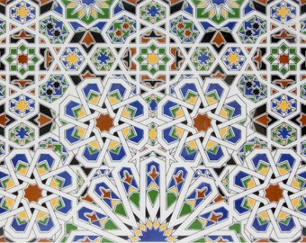 Mattullah - Wall tiles from Morrocco, colorfull tiles