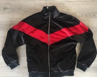 Black and red Selfmade Society coat