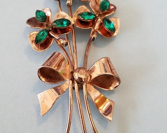 Vintage Coro Craft Sterling 3 flower Brooch, Cori Craft Brooch, Cori Craft Jewelry, Cori Craft