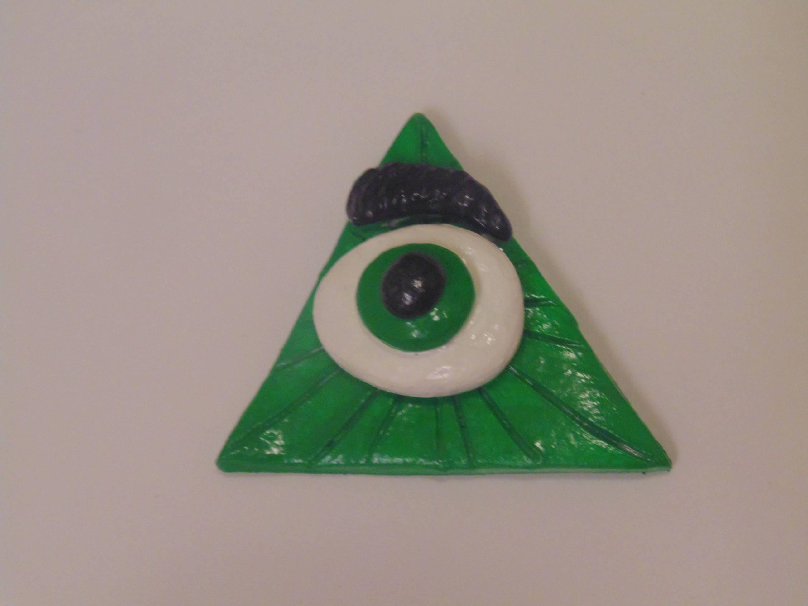 Handmade illuminati evil eye magnet all seeing eye polymer zoom biocorpaavc Choice Image