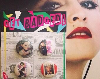 Madonna 1 inch badge set of four