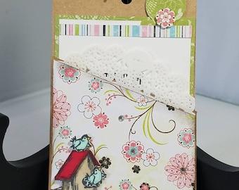 Birthday, Birdhouse Pocket Card