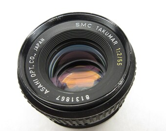 SMC Takumar 55mm, f/2 lens #8131867 for M42 screw mount