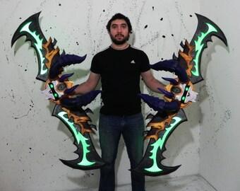 Demon hunter warglaives World of Warcraft cosplay prop