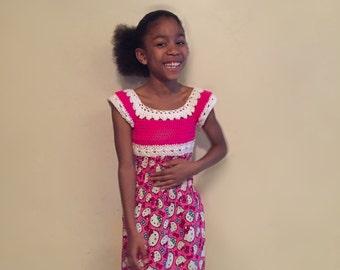 Crochet Hello Kitty Dress