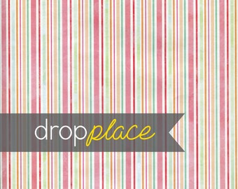 Backdrop Valentine's Day Drops Pink, Teal, Orange and Mint Stripes Photo Background (Multiple Sizes Available)