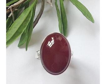 Agate ring, Sterling silver ring, carnelian ring, carnelian agate ring, gemstone ring, gemstone jewelry, gemstone jewellery