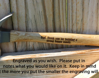 Father's Day gift, Personalized Hammer, Engraved Hammer, Gift for Dad, Custom Hammer, unique Father's Day gift, personalized gift for Dad