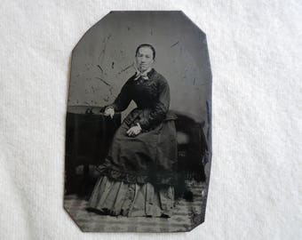 Tin Type Victorian Photograph - Antique Photography