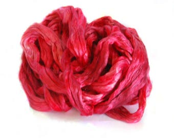 Mulberry/Bombyx Silk Sliver Turkey Red - 29 grams