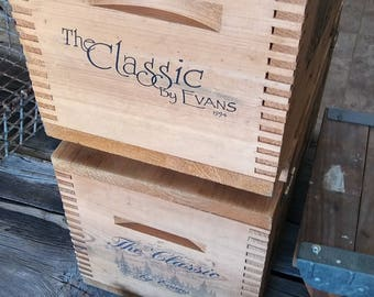 Wooden Ammo Crate/ Evans Classic/ Vintage Crate/ Deer Ammo Crate