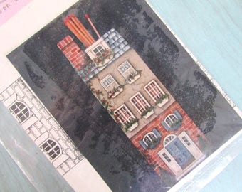 Debbie Mitchell Tole Painting Pattern Packet  House Fireplace Match Holder