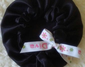 Adjustable Diva Satin Hair Bonnet
